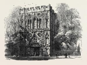 Bury St. Edmunds: the Abbey Gate 1867