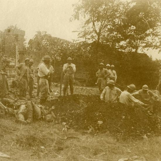 Burying the dead, c1914-c1918-Unknown-Photographic Print