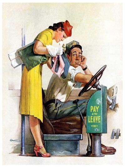 """Bus Fare,""September 9, 1939-McCauley Conner-Giclee Print"