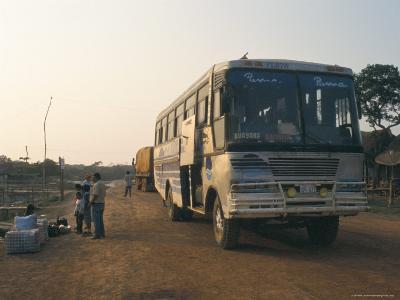 Bus Stop Near Guayaraerin, Bolivia, South America-Mark Chivers-Photographic Print