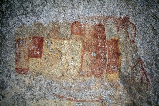 Bushman or San Cave Paintings, Bambata Cave, Matobo Hills--Photographic Print