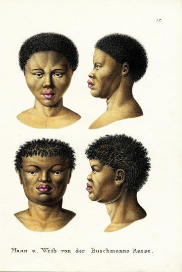 Bushmen, 1824-Karl Joseph Brodtmann-Giclee Print