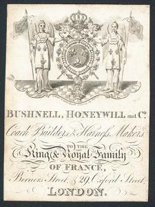 Bushnell, Honeywell and Co, Coach Builders and Harness Makers, Trade Card
