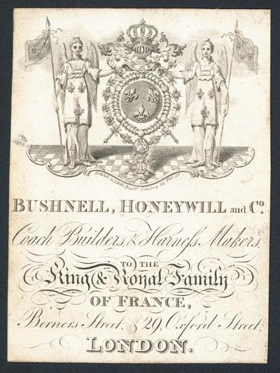 Bushnell, Honeywell and Co, Coach Builders and Harness Makers, Trade Card--Giclee Print