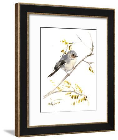 Bushtit-Suren Nersisyan-Framed Art Print