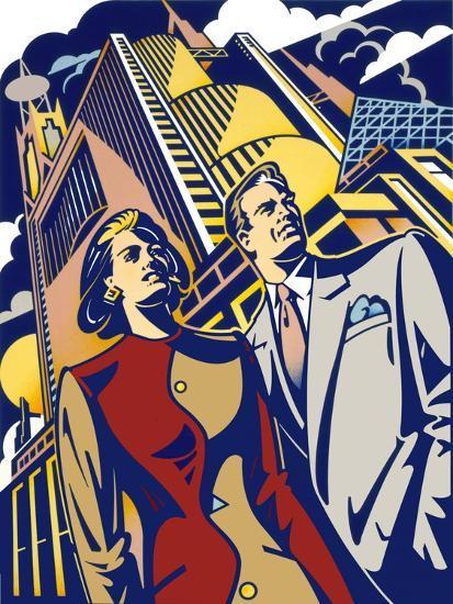 Business Couple-David Chestnutt-Giclee Print