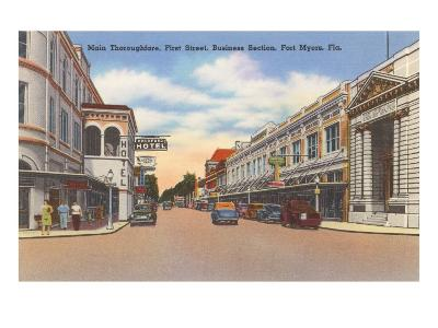 Business District, Ft. Myers, Florida--Art Print