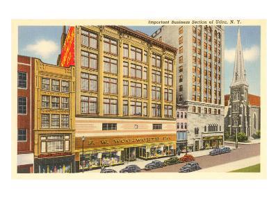 Business District of Utica, New York--Art Print