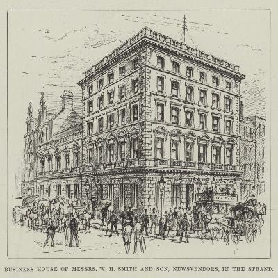 Business House of Messers W H Smith and Son, Newsvendors, in the Strand--Giclee Print