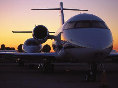 Business Jet Aircraft Parked at Airport-Gary Conner-Photographic Print