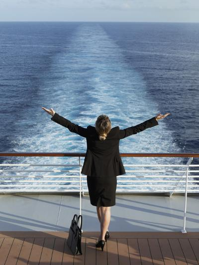 Business Woman on a Cruise Ship, Nassau, Bahamas, West Indies, Caribbean, Central America-Angelo Cavalli-Photographic Print