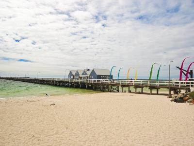Busselton Jetty Built for the Logging Trade, Now a Tourist Attraction, Busselton, Western Australia-Robert Francis-Photographic Print