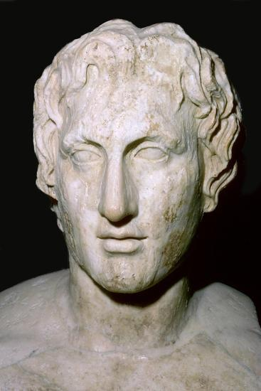 Bust of Alexander the Great, 4th century BC. Artist: Unknown-Unknown-Giclee Print