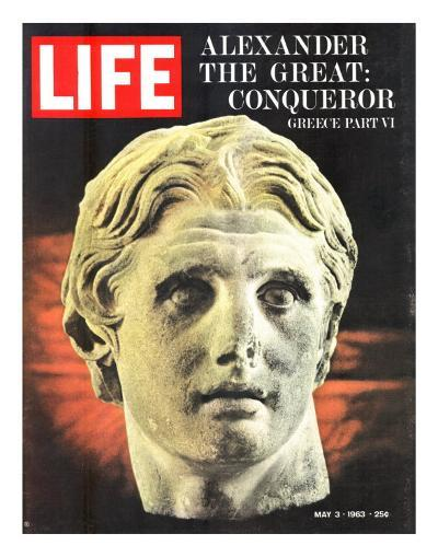 Bust of Alexander the Great, May 3, 1963-Dmitri Kessel-Photographic Print