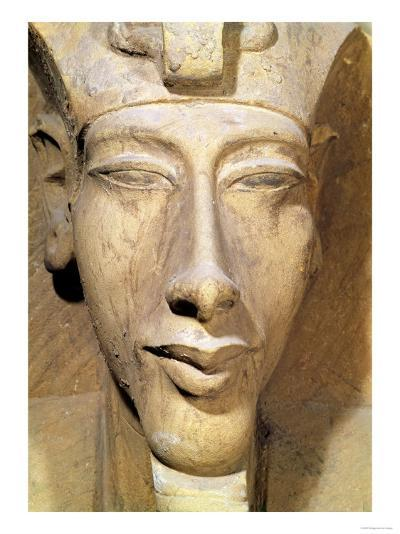 Bust of Amenophis IV from the Temple of Amun, Karnak, circa 1353-1337 BC--Giclee Print