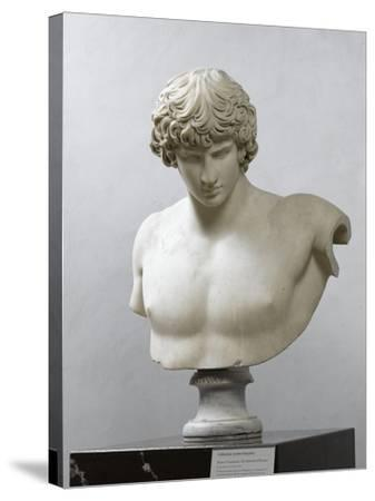 Bust of Antinous, Antinous Said Ecouen (117-138 Ad)--Stretched Canvas Print