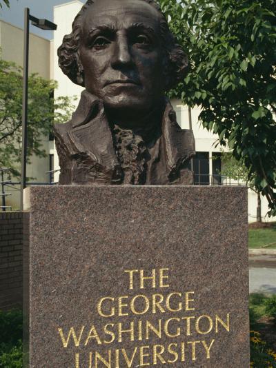 Bust of George Washington, George Washington University, Washington D.C., USA-Hodson Jonathan-Photographic Print