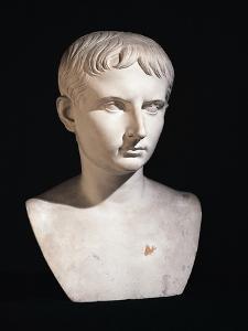 Bust of Julius Caesar as Boy, from Leiden, Netherlands B.C.
