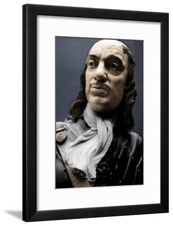Bust of Lord Protector Oliver Cromwell, 1860-Matthew Noble-Framed Giclee Print