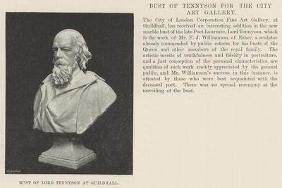 Bust of Lord Tennyson at Guildhall--Giclee Print