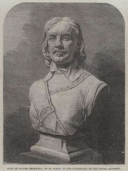 Bust of Oliver Cromwell--Giclee Print