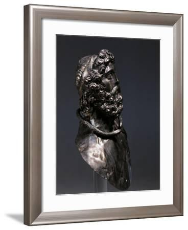Bust of Philip II of Macedon, Hellenistic Bust in Silver BC--Framed Giclee Print
