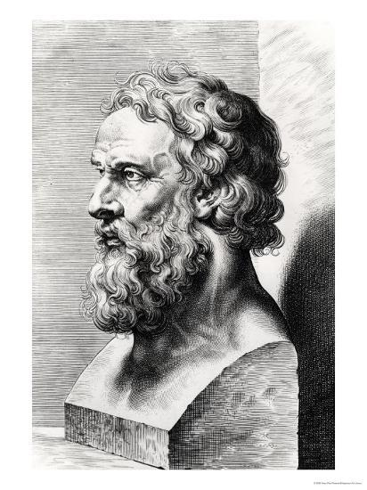 Bust of Plato (circa 427-circa 348 BC) Engraved by Lucas Emil Vorsterman (1595-1675)-Peter Paul Rubens-Giclee Print