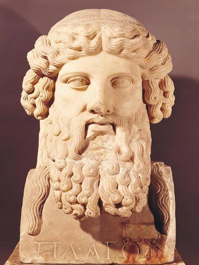 Bust of Plato (circa 428-circa 348 BC)--Giclee Print