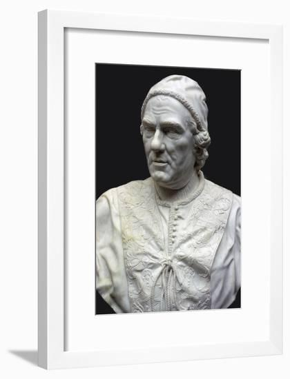 Bust of Pope Clement XIV. Artist: Christopher Hewetson-Christopher Hewetson-Framed Giclee Print