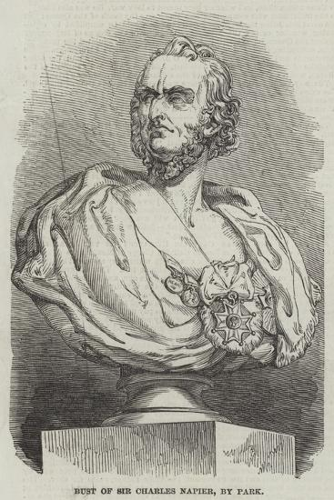 Bust of Sir Charles Napier, by Park--Giclee Print