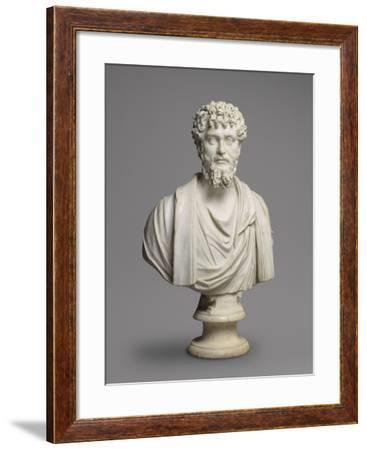 Bust of the Emperor Septimius Severus (193-211 Ad)--Framed Giclee Print