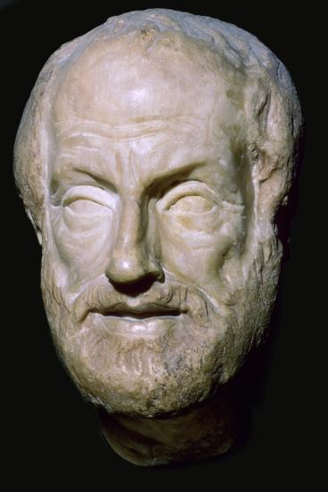 Bust of the Greek philosopher Aristotle, 4th century BC. Artist: Unknown-Unknown-Giclee Print