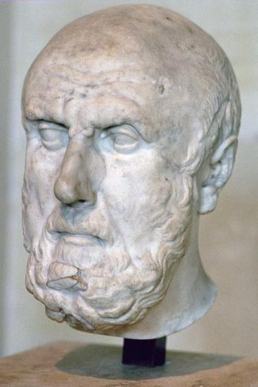 Bust of the Greek philosopher Chrysippus. Artist: Unknown-Unknown-Giclee Print