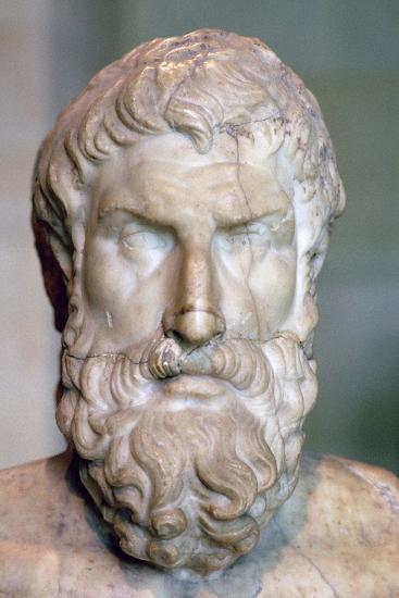 Bust of the Greek philosopher Epicurus, c3rd century BC. Artist: Unknown-Unknown-Photographic Print