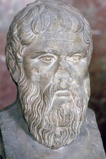 Bust of the Greek philosopher Plato, 4th century BC. Artist: Unknown-Unknown-Giclee Print