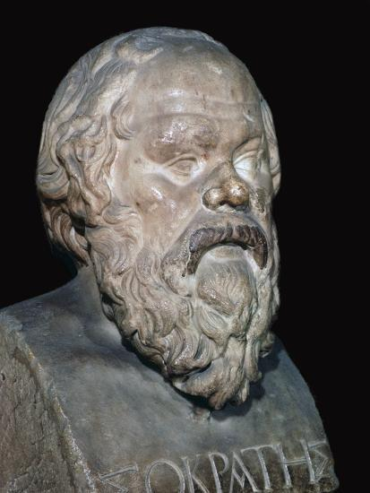 Bust of the Greek philosopher Socrates, 5th century BC. Artist: Unknown-Unknown-Giclee Print