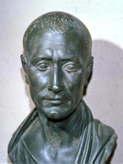 Bust of the late Republican politican Julius Caesar, 1st century BC. Artist: Unknown-Unknown-Giclee Print