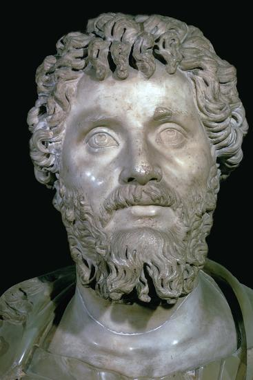Bust of the Roman Emperor Septimius Severus, 2nd century. Artist: Unknown-Unknown-Giclee Print