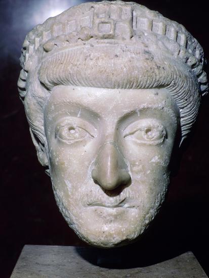 Bust of Theodosius II, 5th century. Artist: Unknown-Unknown-Giclee Print