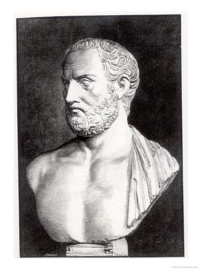 Bust of Thucydides-Felix Jules Lacaille-Giclee Print