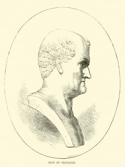Bust of Vespasian--Giclee Print