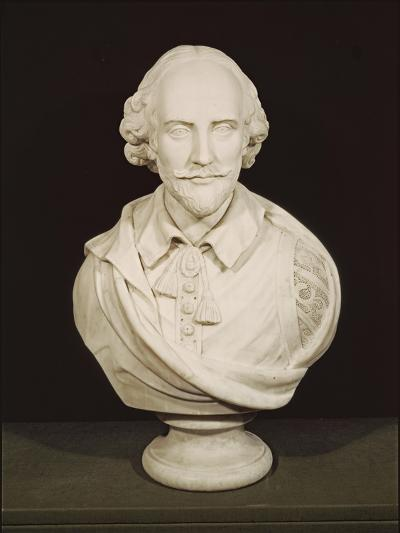 Bust of William Shakespeare--Giclee Print