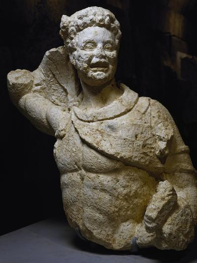 Bust of Young Satyr Uncovered from Odeon of Baalbek, Lebanon, Mid-3rd Century--Giclee Print