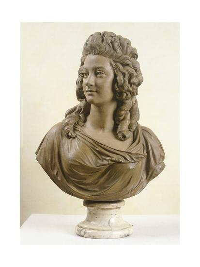 Bust of Young Woman, by Augustin Pajou--Giclee Print