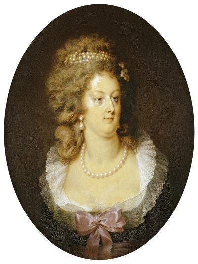 Bust Portrait of Marie-Antoinette (1755-1793)-Jean Guerin-Giclee Print