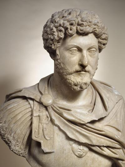 Buste cuirassé de l'empereur Marc Aurèle (empereur de 161-180 après J.C)--Giclee Print