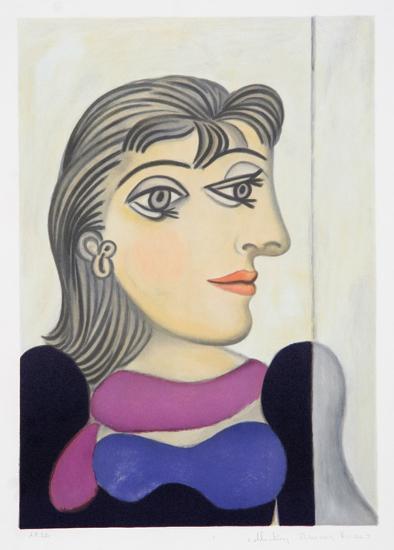 Buste de Femme au Foulard Mauve, 3-C-Pablo Picasso-Premium Edition