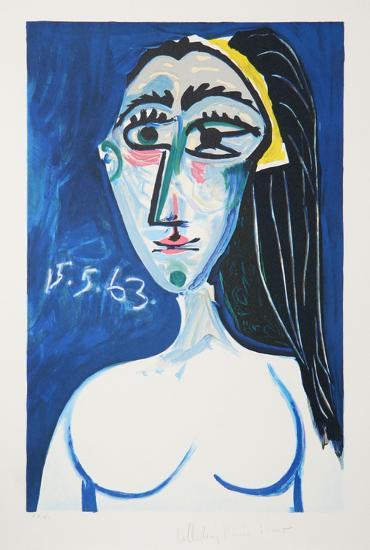 Buste De Femme Nue Face, 1-Pablo Picasso-Premium Edition