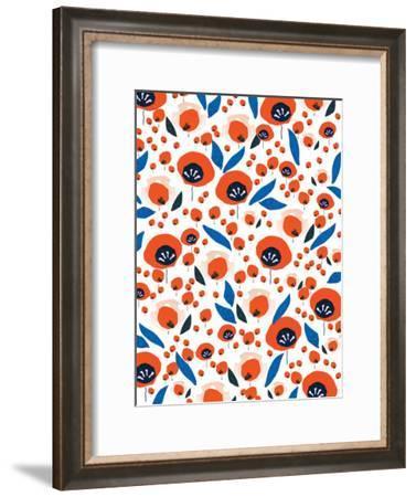 Bustling Flowers-Rebecca Prinn-Framed Art Print