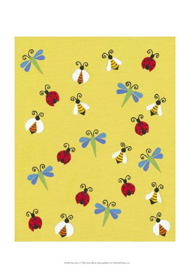 Busy Bees-Syeda Mleeha Shah-Art Print